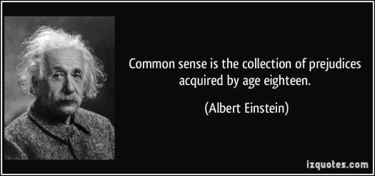 common-sense, Einstein